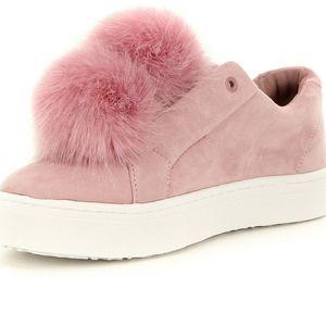 Sam Edelman pink pom pom suede sneakers 9.5M